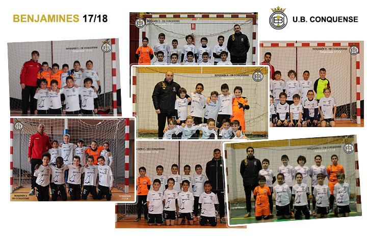 Equipos y niños de la Escuela de Futbol 2017/18 – Benjamín