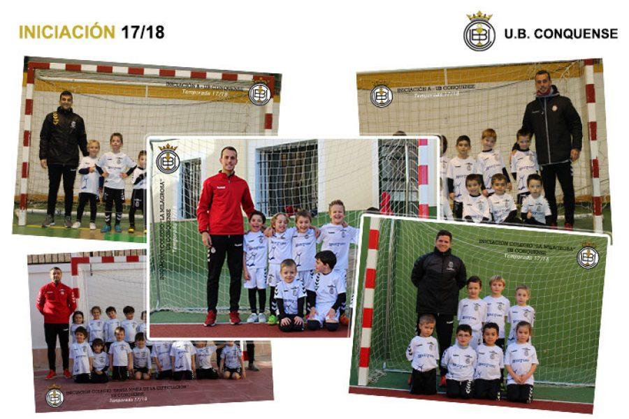 Equipos y niños de la Escuela de Futbol 2017/18 – Iniciación