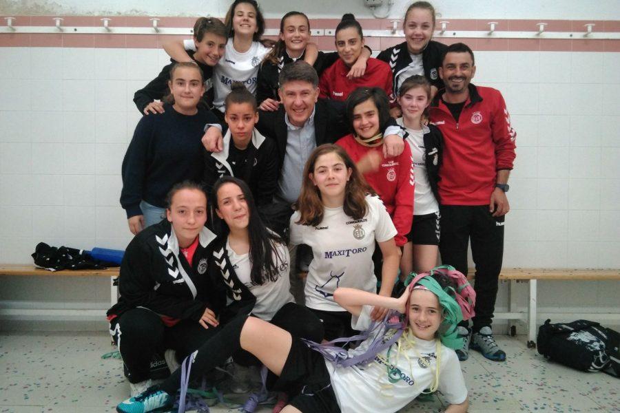 Gran partido y emotiva semifinal infantil regional con nuestras chicas