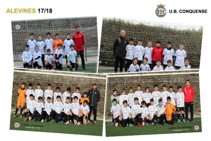 Equipos y niños de la Escuela de Futbol 2017/18 – Futbol 8/11 Alevines