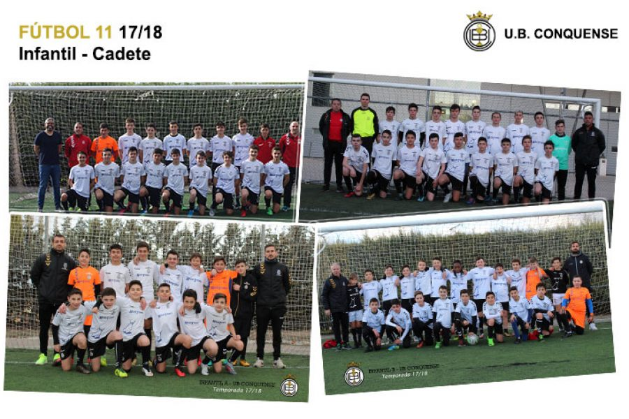 Equipos y chicos de la Escuela de Fútbol 2017/18 – Fútbol 11