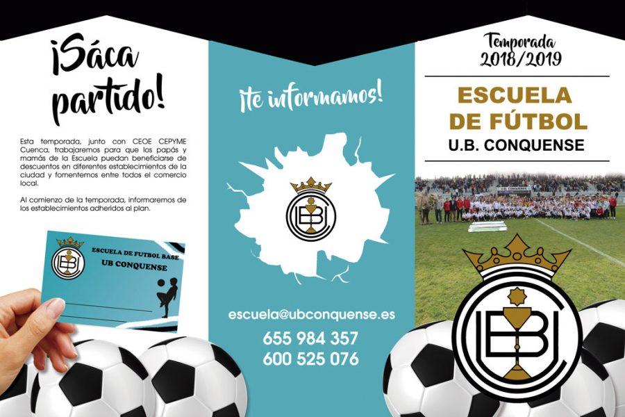 Abierta la inscripción a la Escuela de Fútbol UB Conquense para la temporada 18/19