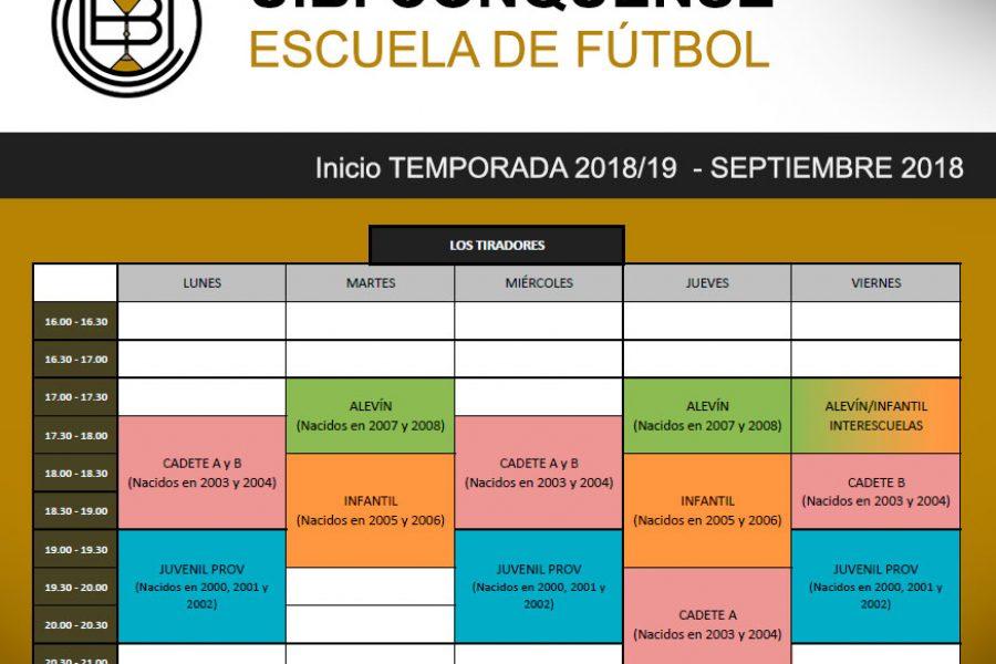 Arrancamos la temporada 2018/19 en la Escuela de Fútbol