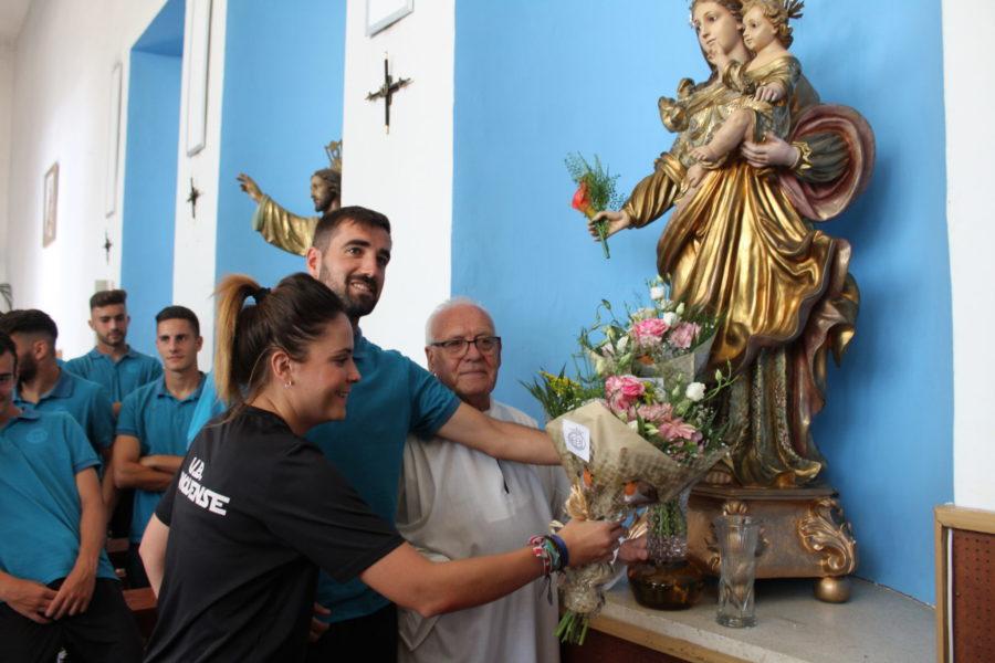 La UB Conquense realiza la tradicional ofrenda floral