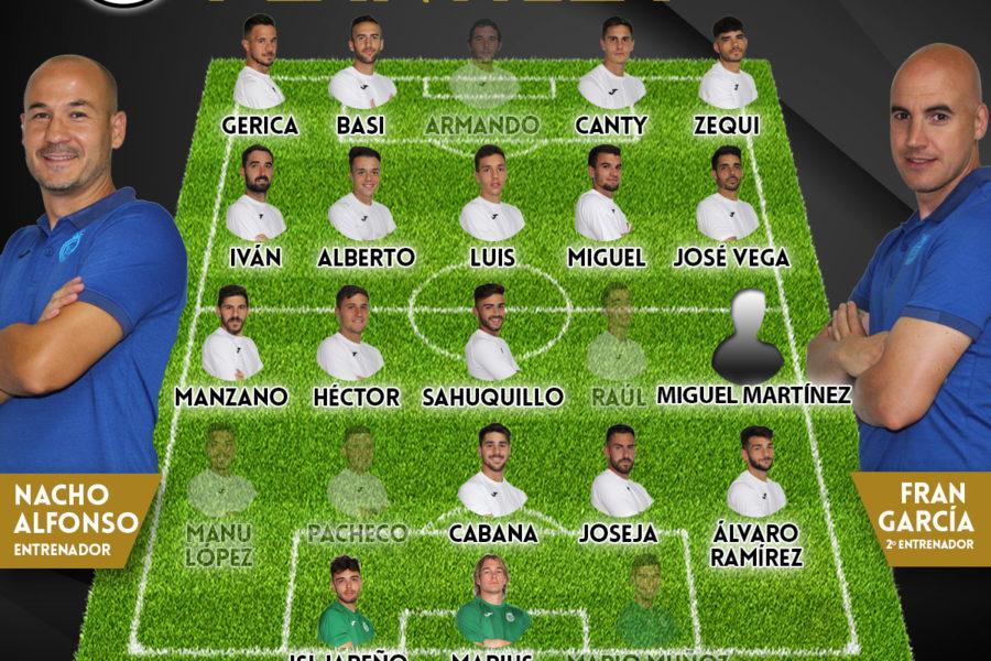 Lista de convocados para recibir al CD Manchego Ciudad Real