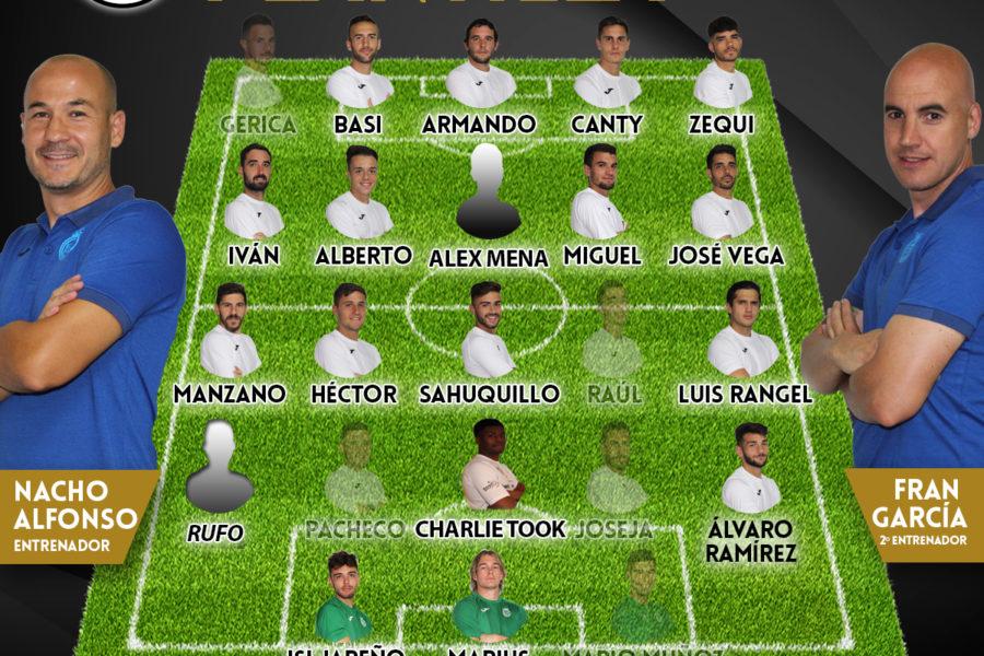 Lista de convocados para visitar al CD Madridejos