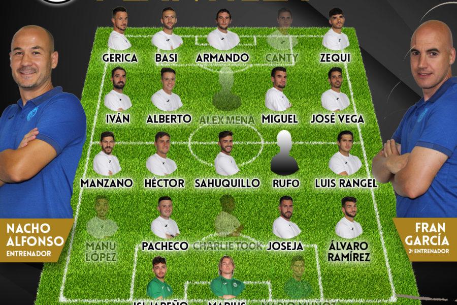 Lista de convocados para visitar al Almagro CF